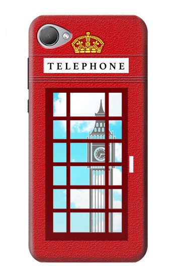 Printed England Classic British Telephone Box Minimalist HTC Desire 12 Case