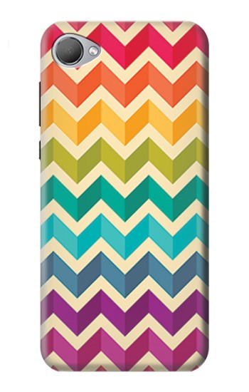 Printed Rainbow Colorful Shavron Zig Zag Pattern HTC Desire 12 Case
