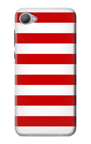Printed Red and White Striped HTC Desire 12 Case
