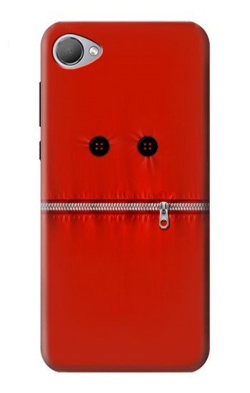 Printed Red Zipped Mount Funny Graphic Printed HTC Desire 12 Case