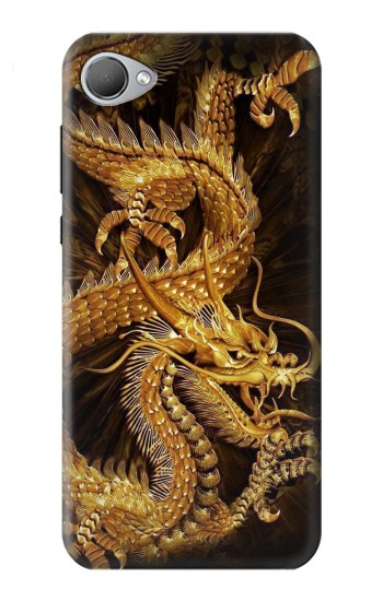 Printed Chinese Gold Dragon Printed HTC Desire 12 Case