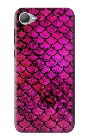 Printed Pink Mermaid Fish Scale HTC Desire 12 Case