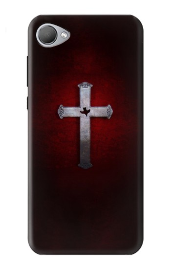 Printed Christian Cross HTC Desire 12 Case