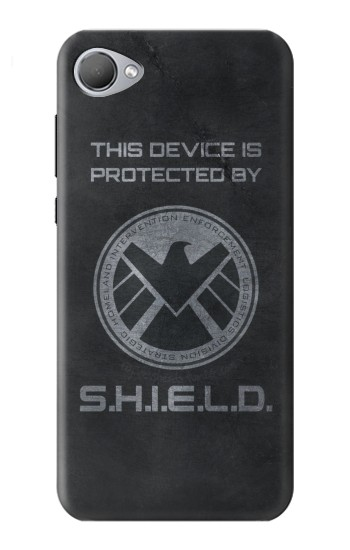 Printed This Device is Protected by Shield HTC Desire 12 Case