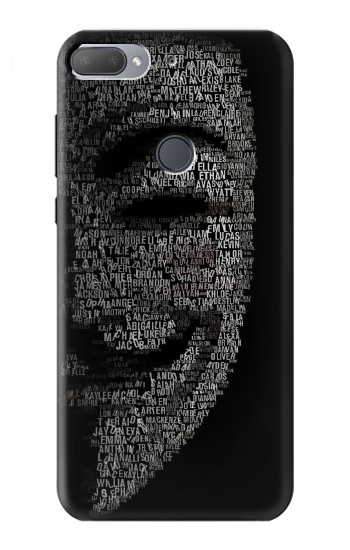 Printed V Mask Guy Fawkes Anonymous HTC Desire 12+ Case