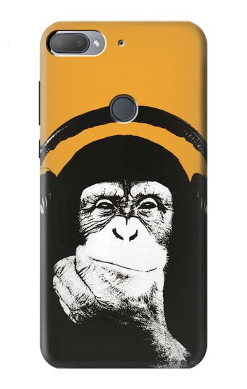 Printed Funny Monkey with Headphone Pop Music HTC Desire 12+ Case