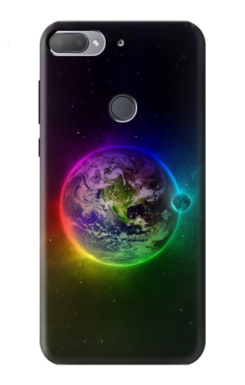 Printed Colorful Planet HTC Desire 12+ Case