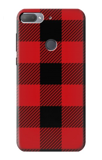 Printed Red Buffalo Check Pattern HTC Desire 12+ Case