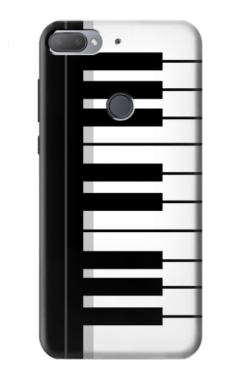 Printed Black and White Piano Keyboard HTC Desire 12+ Case