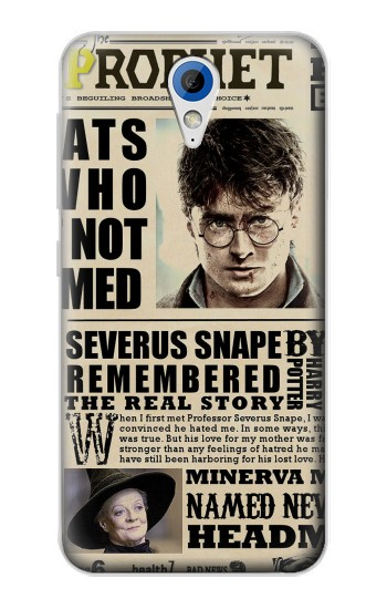 Printed Harry Potter Daily Prophet HTC Desire 620 Case