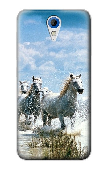 Printed White Horse 2 HTC Desire 620 Case