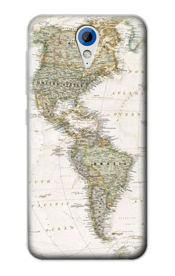 Printed World Map HTC Desire 620 Case
