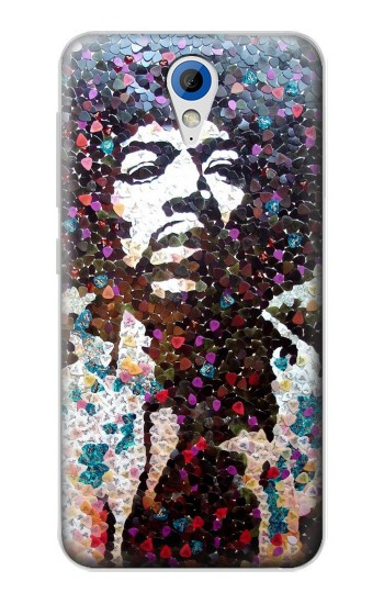 Printed Pick Guitar Art Jimi Hendrix HTC Desire 620 Case