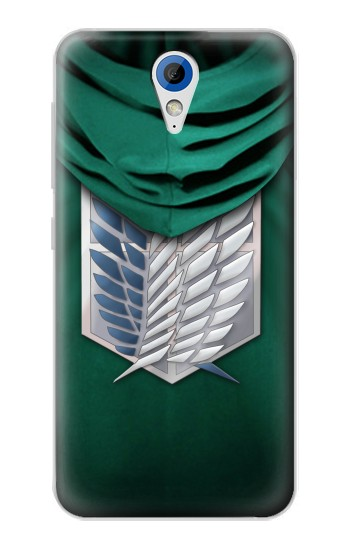 Printed Attack on Titan Scouting Legion Rivaille Green Cloak HTC Desire 620 Case