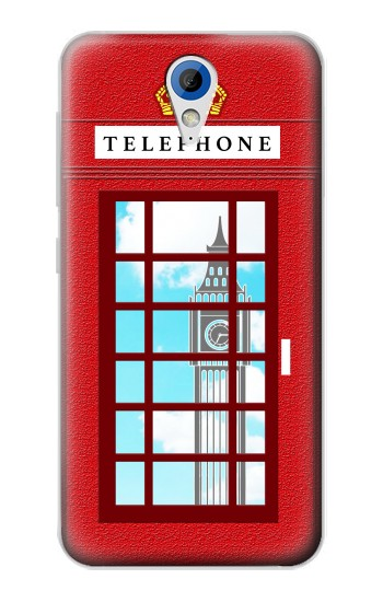 Printed England Classic British Telephone Box Minimalist HTC Desire 620 Case