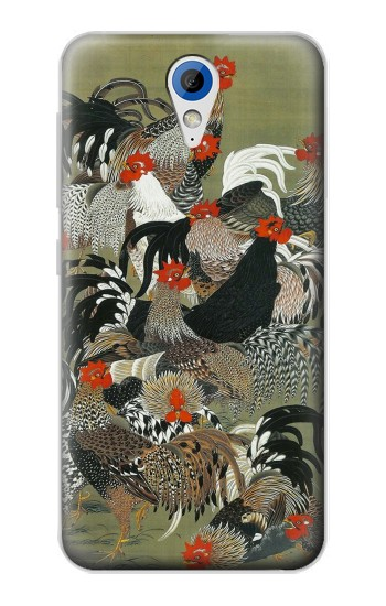 Printed Ito Jakuchu Rooster HTC Desire 620 Case