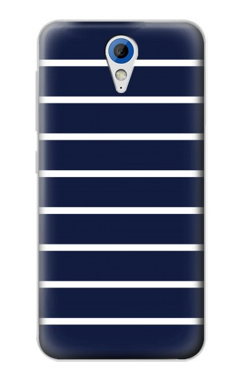 Printed Navy White Striped HTC Desire 620 Case