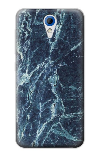 Printed Light Blue Marble Stone Texture Printed HTC Desire 620 Case