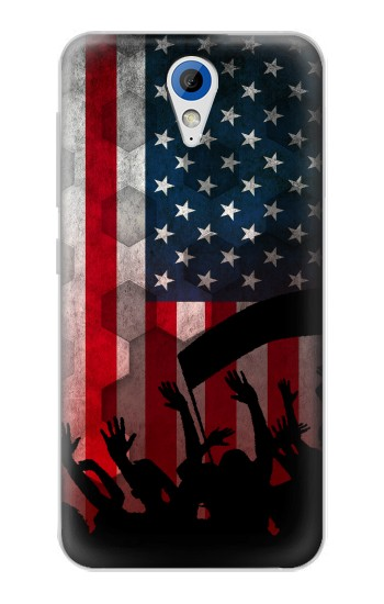 Printed USA American Football Flag HTC Desire 620 Case