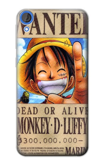 Printed One Piece Monkey D Luffy Wanted Poster HTC Desire 820 Case
