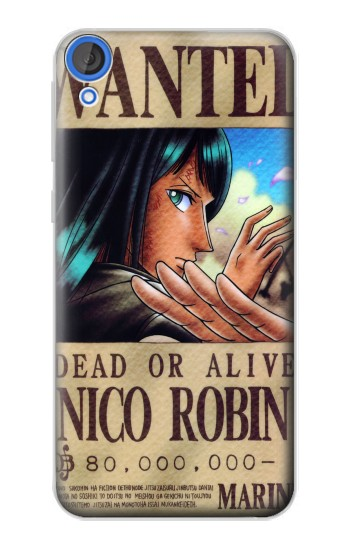 Printed One Piece Nico Robin Wanted Poster HTC Desire 820 Case