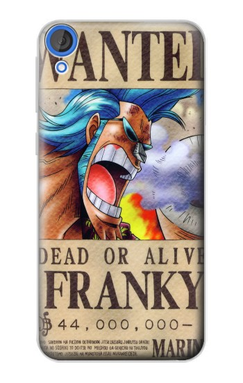 Printed One Piece FRANKY Wanted Poster HTC Desire 820 Case