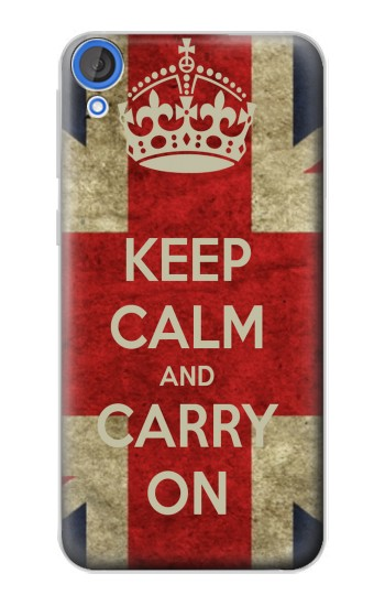 Printed Keep Calm and Carry On HTC Desire 820 Case