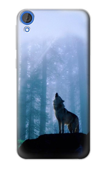 Printed Wolf Howling in Forest HTC Desire 820 Case