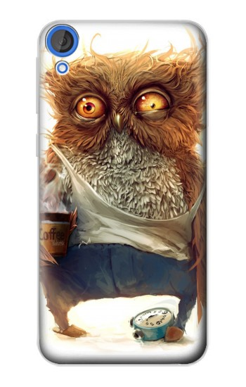 Printed Wake up Owl HTC Desire 820 Case