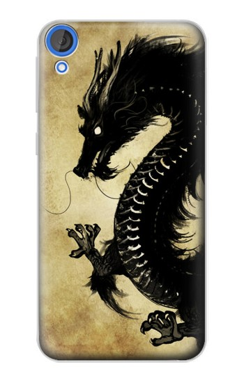 Printed Black Dragon Painting HTC Desire 820 Case