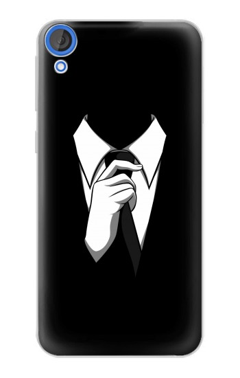 Printed Anonymous Man in Black Suit HTC Desire 820 Case