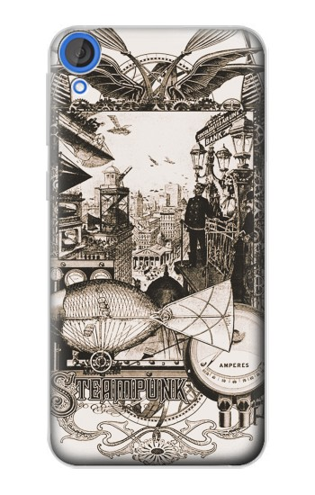 Printed Steampunk Drawing HTC Desire 820 Case