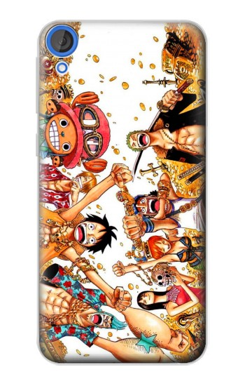 Printed One Piece Straw Hat Luffy Pirate Crew HTC Desire 820 Case