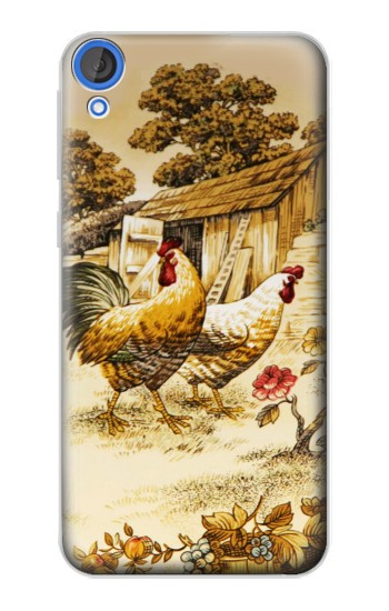 Printed French Country Chicken HTC Desire 820 Case