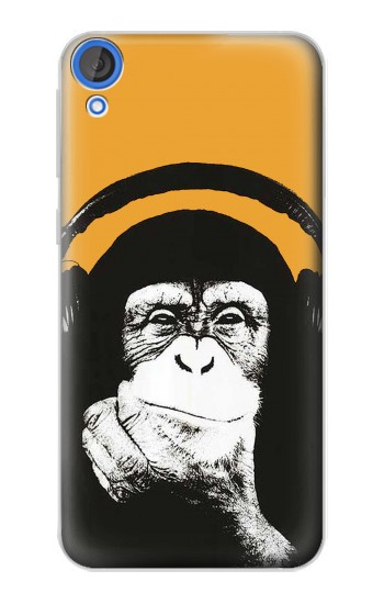 Printed Funny Monkey with Headphone Pop Music HTC Desire 820 Case