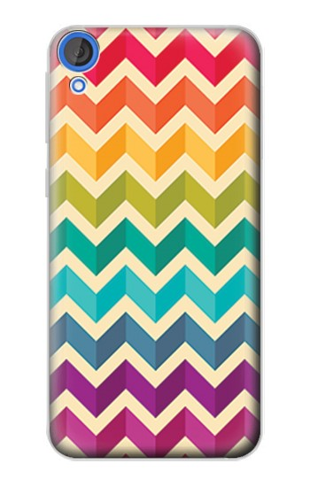 Printed Rainbow Colorful Shavron Zig Zag Pattern HTC Desire 820 Case