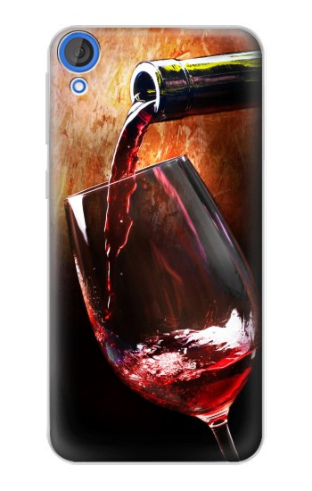 Printed Red Wine Bottle And Glass HTC Desire 820 Case