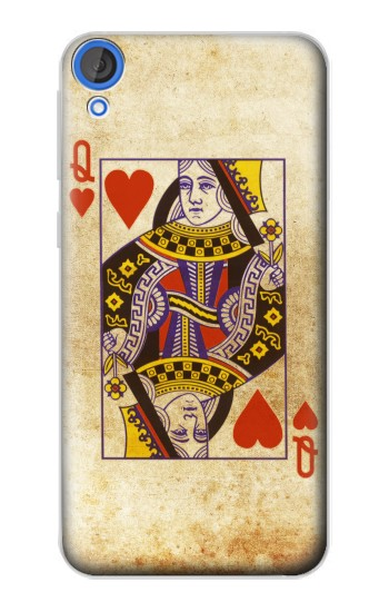 Printed Poker Card Queen Hearts HTC Desire 820 Case