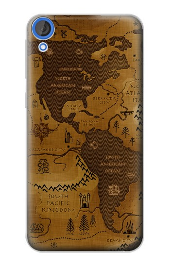 Printed Antique Style Map HTC Desire 820 Case