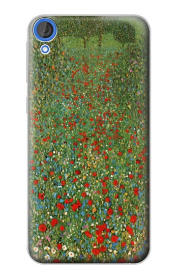 Printed Gustav Klimt Poppy Field HTC Desire 820 Case
