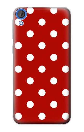 Printed Red Polka Dots HTC Desire 820 Case
