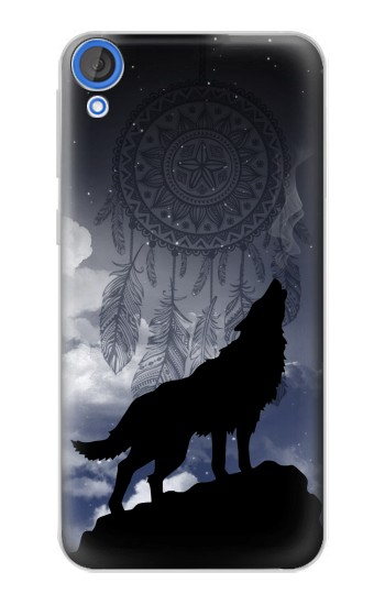 Printed Dream Catcher Wolf Howling HTC Desire 820 Case