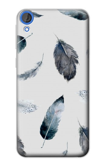 Printed Feather Paint Pattern HTC Desire 820 Case