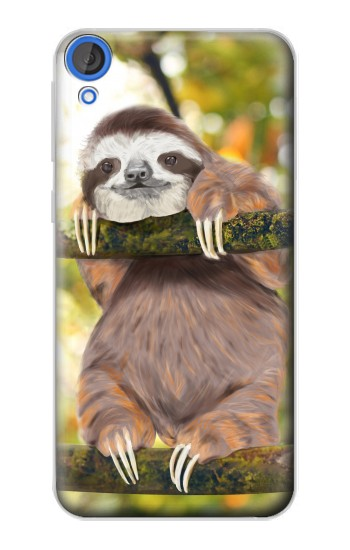 Printed Cute Baby Sloth Paint HTC Desire 820 Case