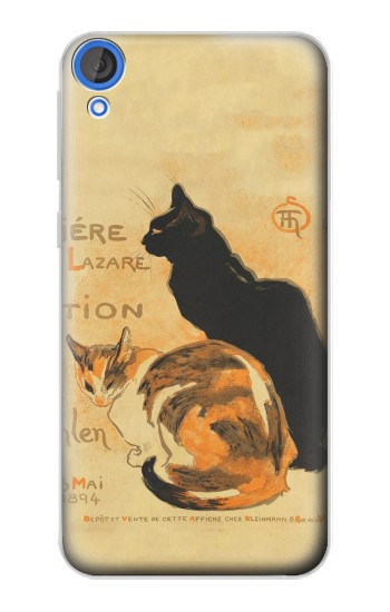 Printed Vintage Cat Poster HTC Desire 820 Case