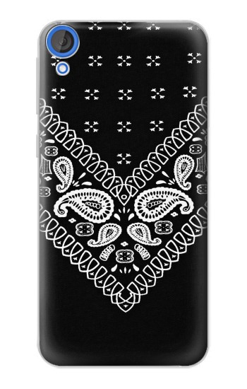 Printed Bandana Black Pattern HTC Desire 820 Case
