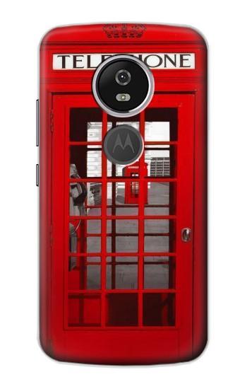 Printed Classic British Red Telephone Box Motorola Moto E5 Plus Case