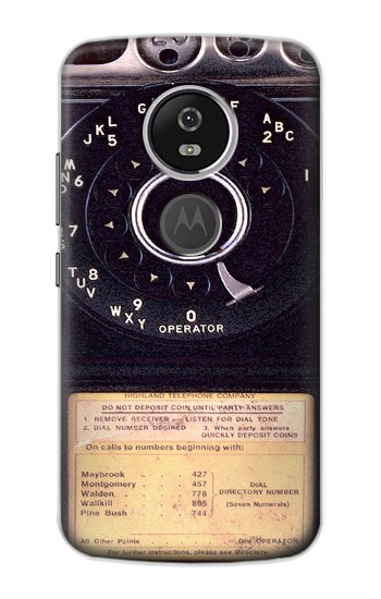 Printed Payphone Vintage Motorola Moto E5 Plus Case