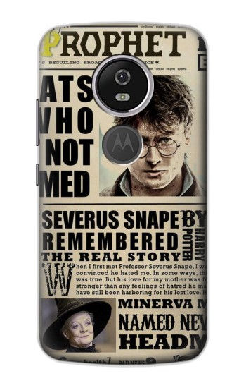 Printed Harry Potter Daily Prophet Motorola Moto E5 Plus Case