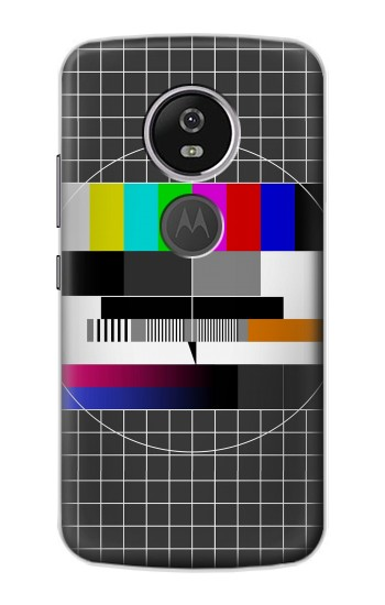 Printed No Signal TV Motorola Moto E5 Plus Case